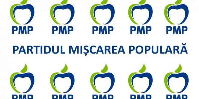 """Partidul Mișcarea Populară și sigla oficială """"mărul"""""""