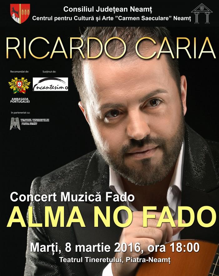 De 8 Martie, Ricardo Caria aduce ritmuri de fado la Piatra Neamţ