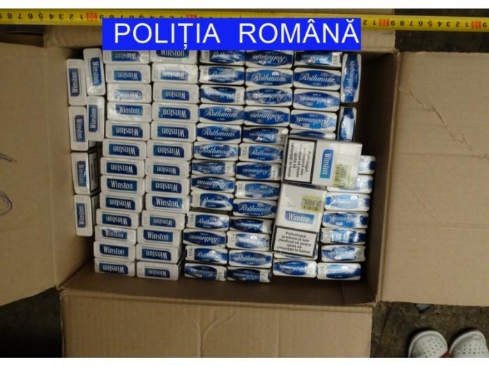 Mașină cu sute de pachete de țigări de contrabandă, oprită în Piatra-Neamț