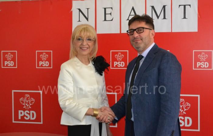 Echipa PSD pentru Primăria Piatra Neamț: primar Liviu Harbuz – viceprimar Luminița Vîrlan