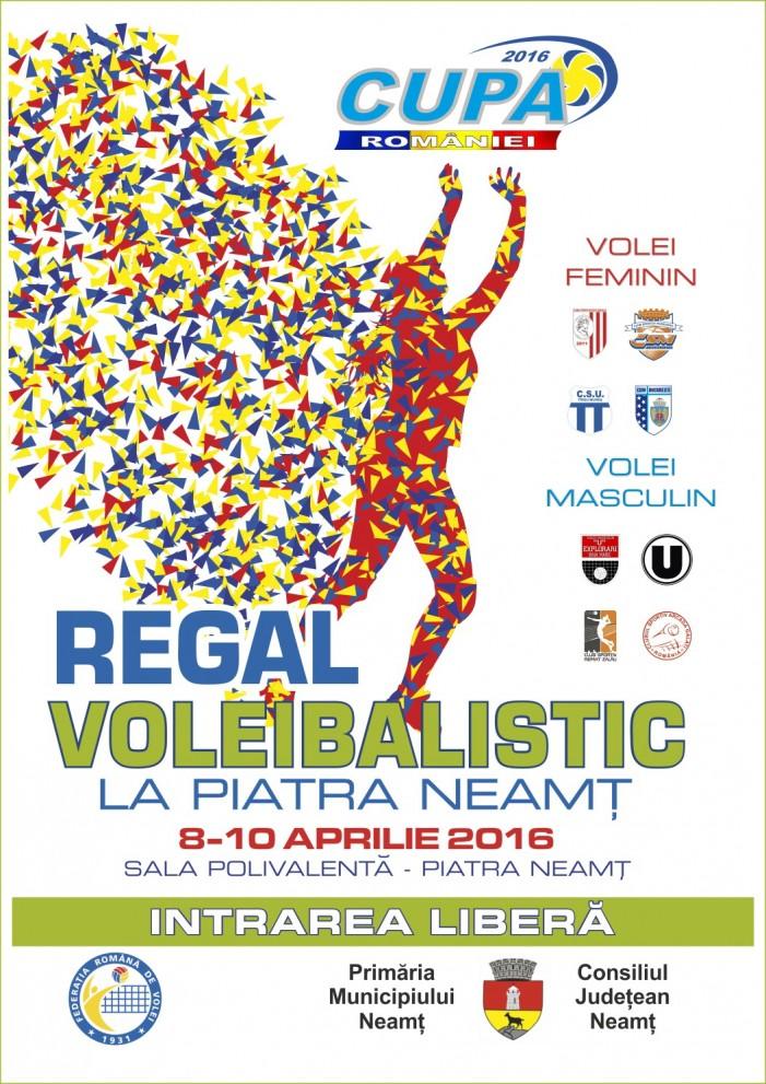 Regal de volei la Piatra Neamț: finalele pe echipe feminin și masculin! Intrarea este liberă!