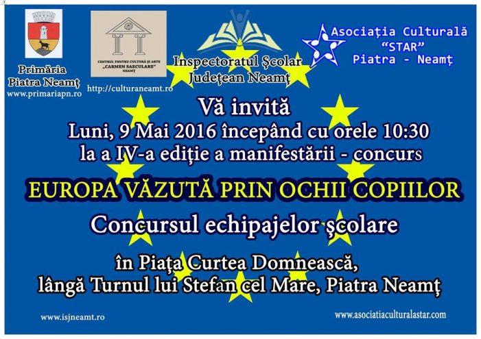 """Asociația Star vă invită la a patra ediție a manifestării """"Europa văzuta prin ochii copiilor"""""""