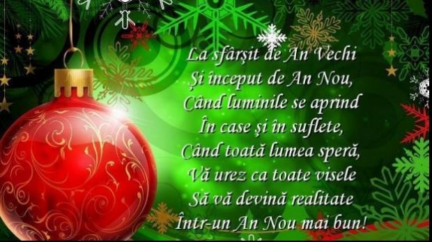 Felicitare cu prilejul Anului Nou 2017 din partea Direcției Silvice Neamț