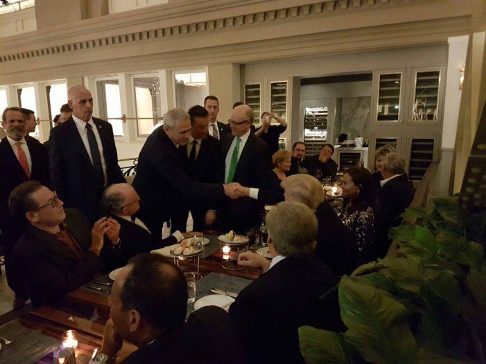 Liviu Dragnea și Sorin Grindeanu au participat la o cină în format restrâns cu președintele SUA, Donald Trump
