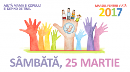 """Sâmbătă, 25 martie, la Piatra Neamț are loc o nouă ediție a """"Marșului pentru viață"""""""