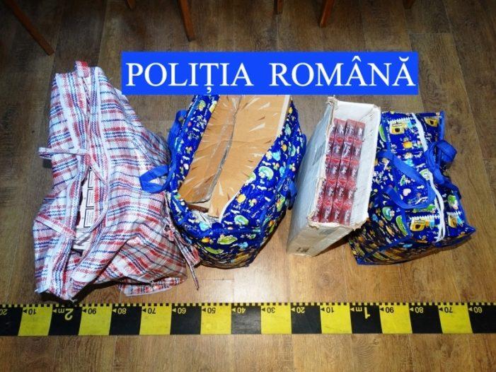 Captură de 743 de pachete de țigări de contrabandă în Piatra Neamț! Polițiștii au confiscat și mașina cu care era transportată marfa!