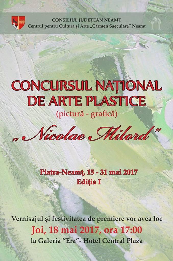 """Concursul național de artă plastică """"Nicolae Milord"""", ediția I"""