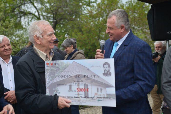 """Laureatul primei ediţii a Premiului """"ION CREANGĂ"""" este Dumitru Radu POPESCU"""