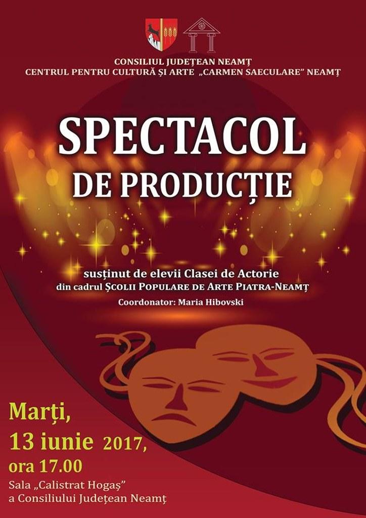 Spectacole de producție ale clasei de actorie a Școlii Populare de Artă