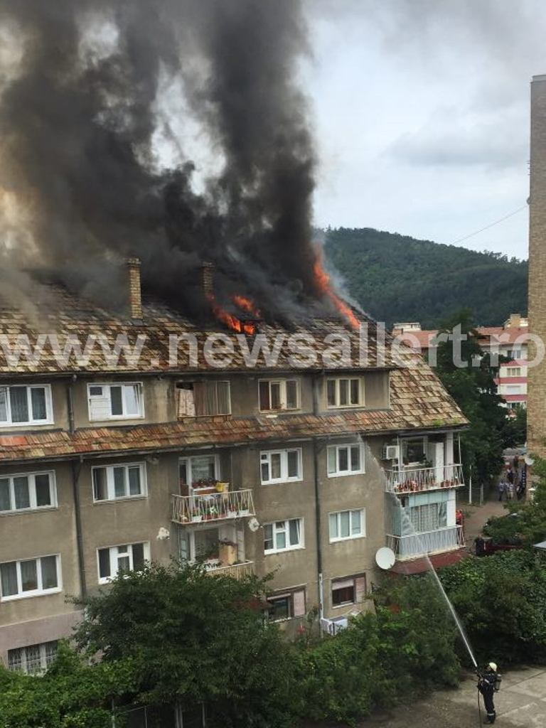 A fost prins incendiatorul blocului din spatele Casei de Asigurări de Sănătate Neamț