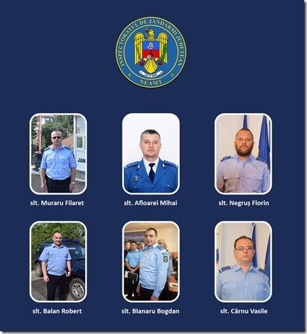 6 subofiţeri ai Jandarmeriei Neamţ au trecut în corpul ofiţerilor