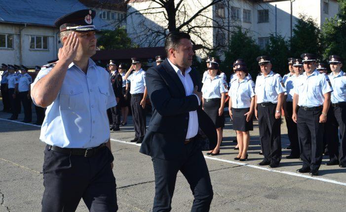 Ceremonie depunere a jurământului militar și avansare în grad la termen la ISU Neamț