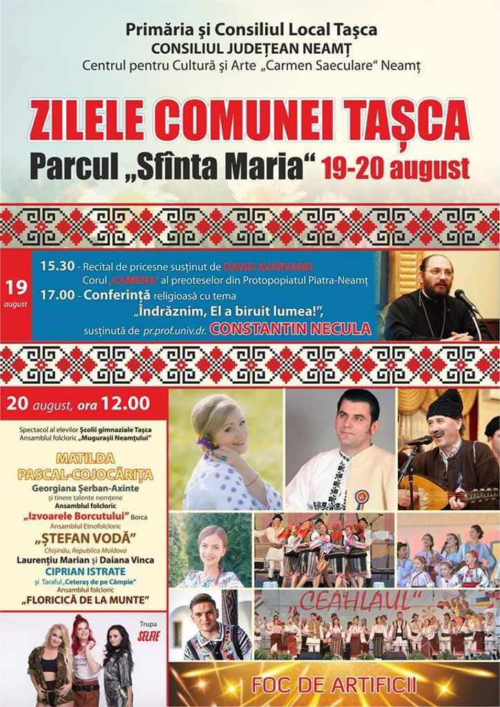 Preotul Constantin Necula, invitat de onoare la Zilele comunei Tașca! Preotesele din Piatra-Neamț vor susține un recital coral