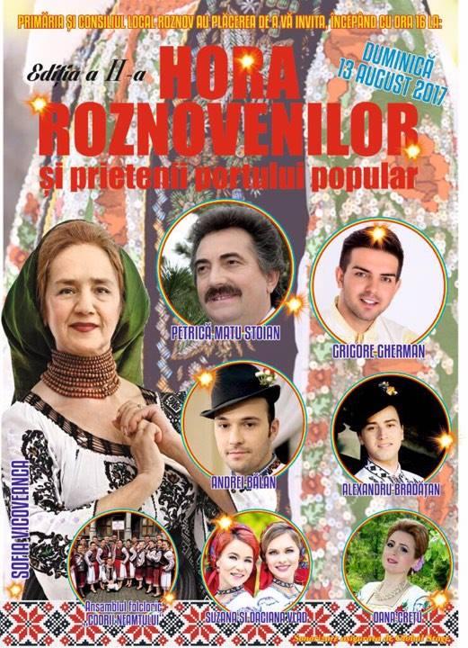 Hora Roznovenilor, ediția a II-a are loc duminică, 13 august 2017