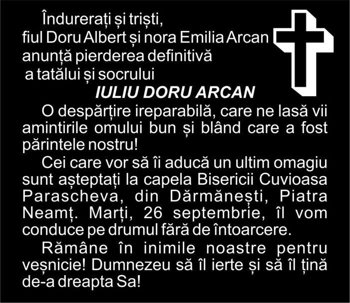 Doliu în familia senatorului Emilia Arcan