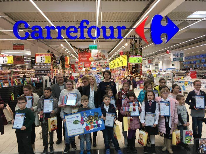 Câștigătorii concursului de desene organizat de Carrefour Piatra-Neamț, ediția de Crăciun 2017